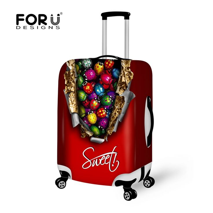 2016 Chocolate Style Travel Luggage Accessories for Suitcase Protector Cover Bags for Case,Elastic Luggage Cover for Men Women