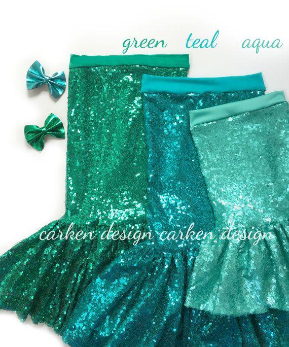 mermaid party mermaid skirt costume mermaid outfit by carkendesign