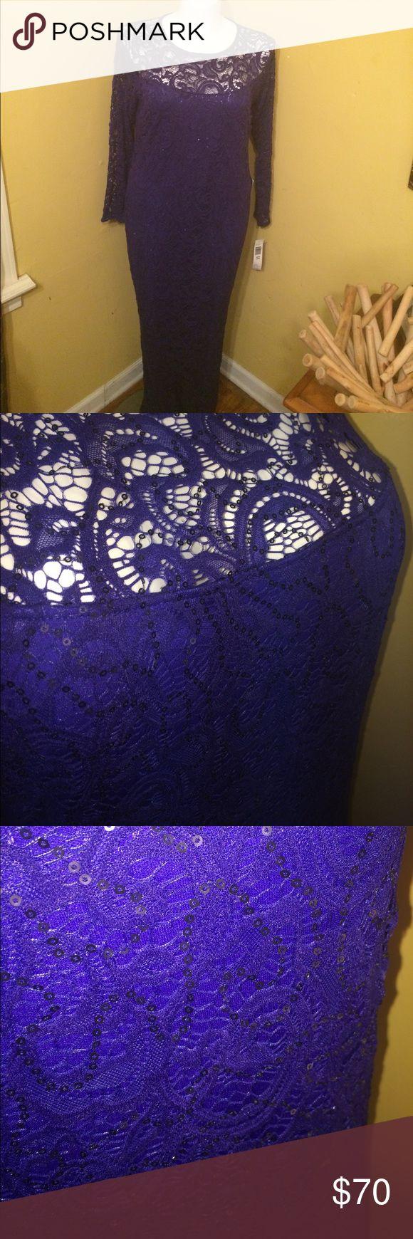 Blu Sage dress Blu sag maxi formal dress with lace & mini sequins. Blu Sage Dresses Maxi