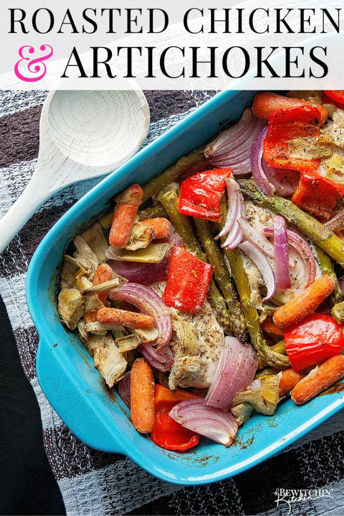 Roasted Chicken and Artichokes recipe. Healthy dinner ideas and for ...