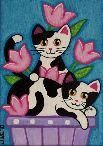 Twins in the Tulips   Flickr - Photo Sharing!