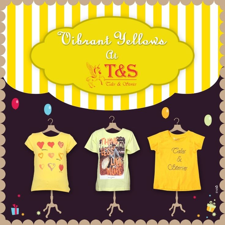 Make #kids #shine in vibrant #yellow... Checkout Now >>> http://www.talesandstories.com/