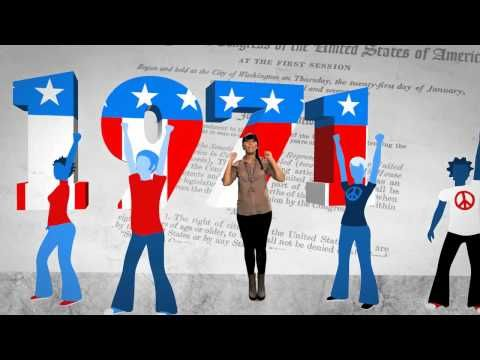 Rock the Vote created this video to kick off their Democracy Class program.    Effective video to understand that after years of fighting for this right, you should exercise it and vote!