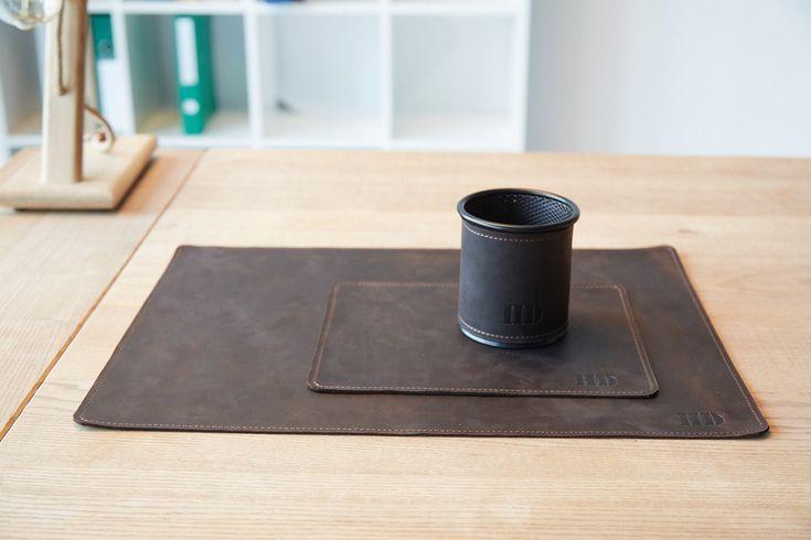 Leather Table Mat Pen Holder For Desk Office Desk Accessories For Men Leather Desk Mat Leathe Leather Desk Pad Desk Accessories Office Leather Desk