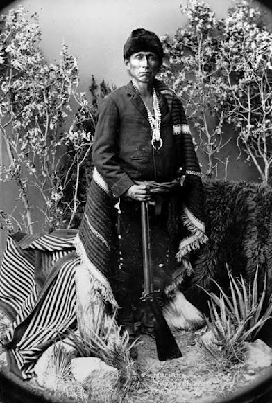 Mariano - Navajo - 1882. War Chief Mariano lived north and east of Ft. Wingate and helped out the survey party layout the original reservation boundary. In 1886, along with Chief Manuelito, he recruited Navajo scouts for service in the Apache campaign.