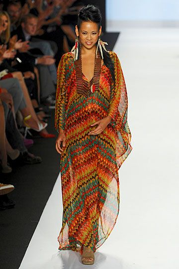 Lounging around on an island in this print...paradise. by Anya from Project Runway. #NYFW