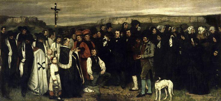 Gustave Courbet (1819 - 1877) - Un enterrement à Ornans, Salon de 1851