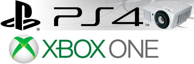 Proyección de xbox one y play station 4 a video proyector