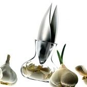 Garlic Press with Glass Container