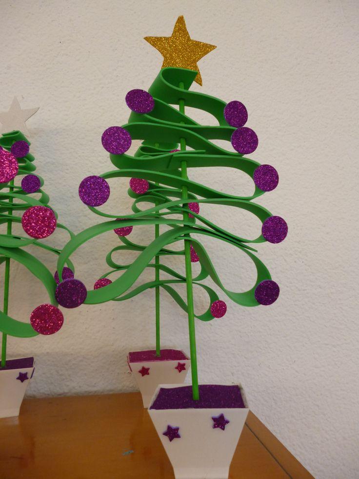 Arbol de goma eva navidad pinterest rboles de - Albol de navidad ...