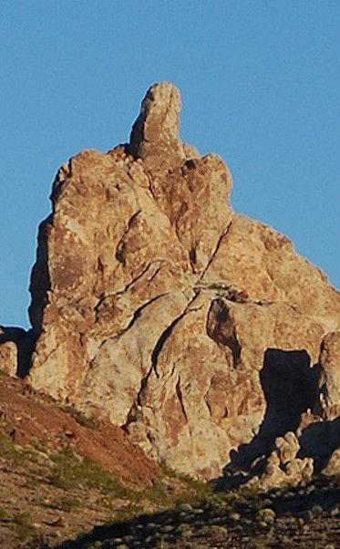 Finger Rock | Travel | Vacation Ideas | Road Trip | Places to Visit | Bullhead City | AZ | Photo Op | Folk Art | Roadside Attraction | Natural Feature | Scenic Point