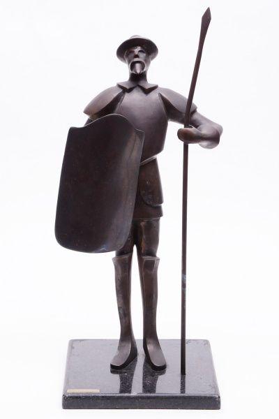 DORY BOTTERI - DON QUICHOTE - escultura em bronze da co..