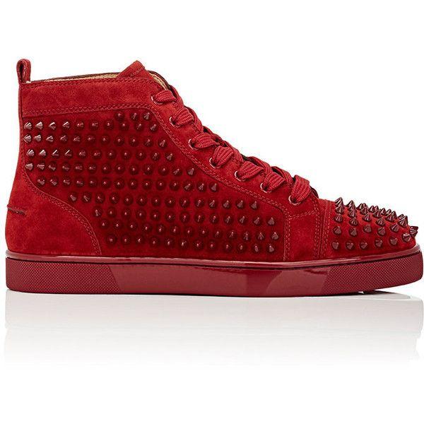 c8452e6e5585 Christian Louboutin Men s Spiked Louis Flat High-Top Sneakers Size ...