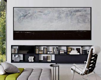 Extra grande abstracto pintura arte horizontal pared