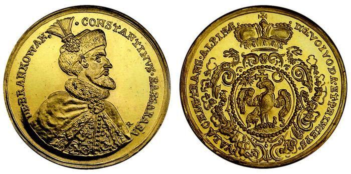 monedă-medalie de la Constantin Brâncoveanu - replică