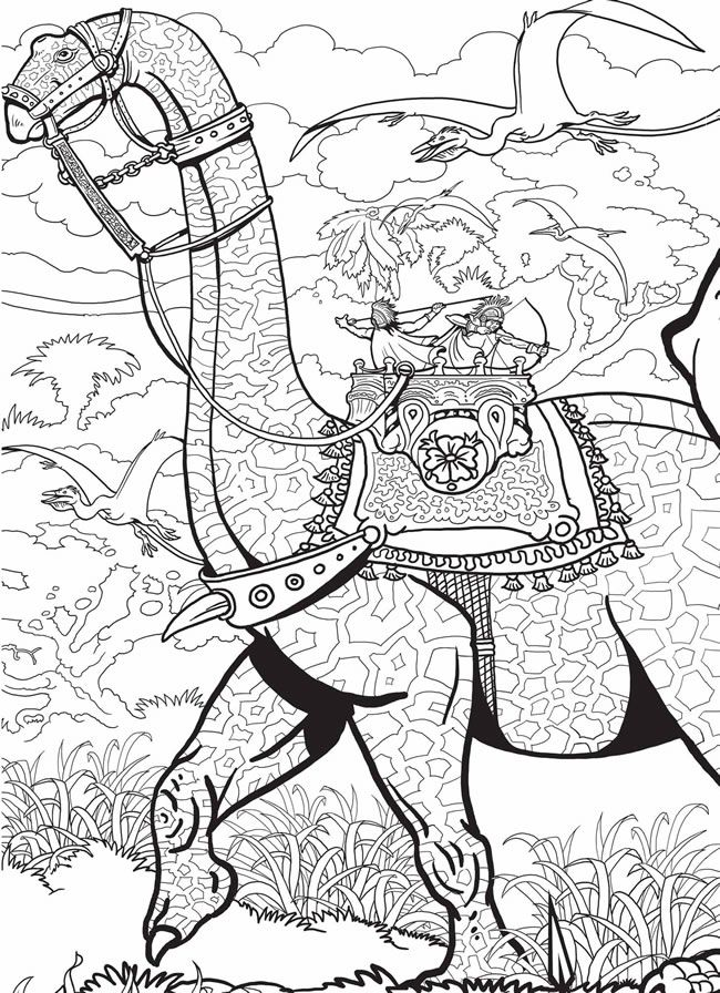 Build A Poster Coloring Book Dinosaurs