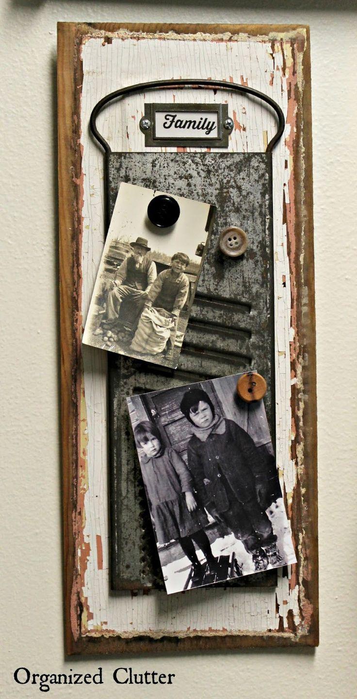 Thrift shop grater photo display www.organizedclutter.net
