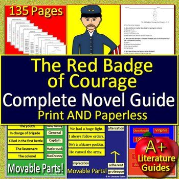 a literary analysis of the red badge of courage by stephen crane Stephen crane|crane's use of literary devices in the red badge of courage stephen crane was the first writer to realistically portray war, which had p.