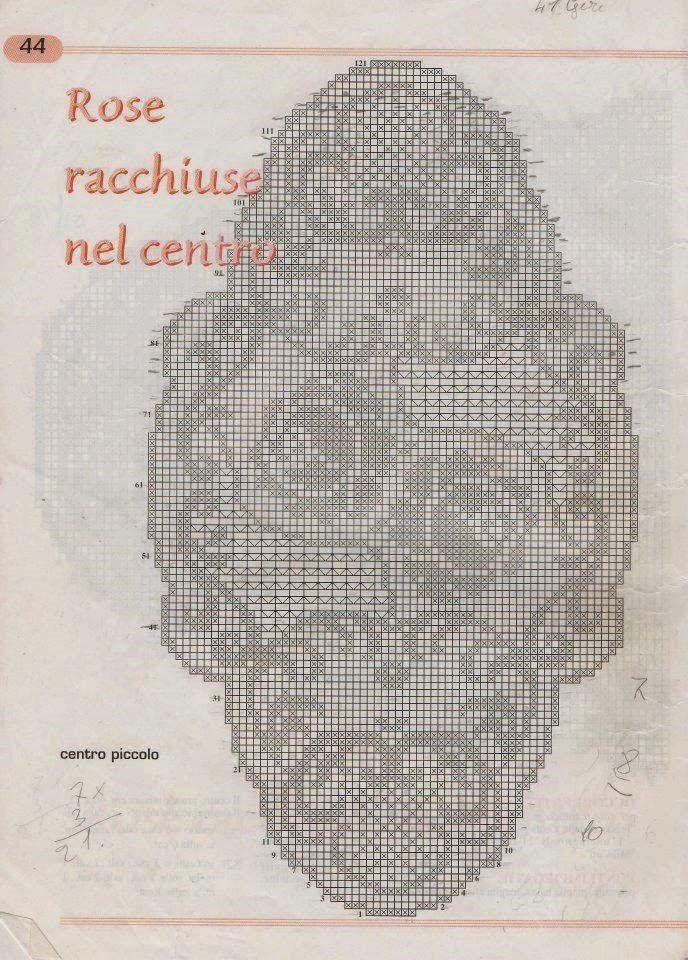 Kira crochet: Crocheted motif no. 352
