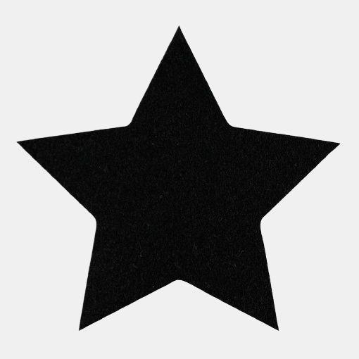Patch 140x140mm star black 1pcs