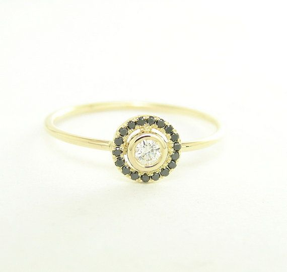 Diamond Engagement Ring  14k Solid Gold  Gold Diamond by FRomaG