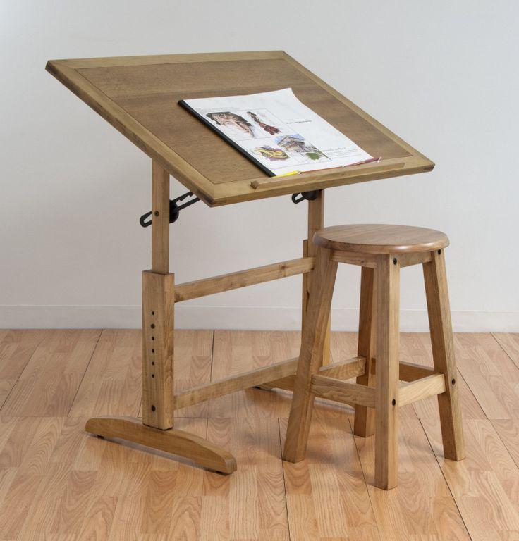 New Adjustable Drafting Wood Table Stool Drawing Studio