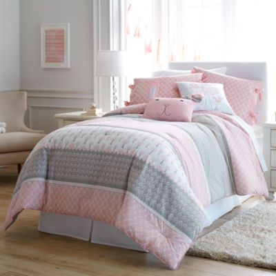 Frank And Lulu Heartwood Forest Comforter Set, Perfect Pink And Gray Girls  Room!