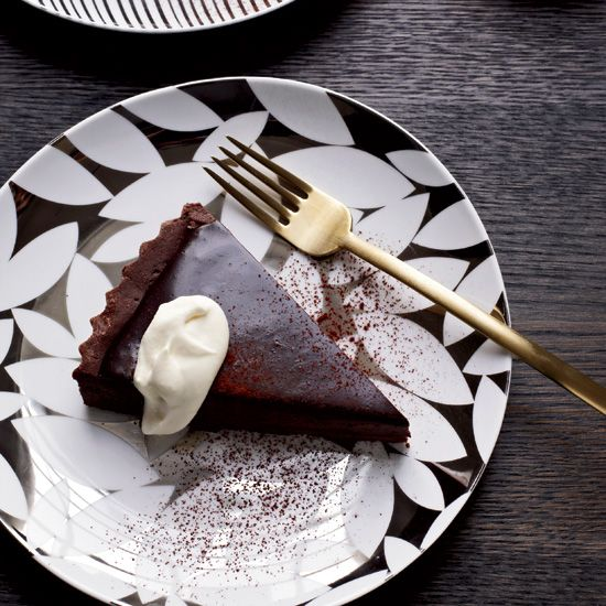 Bittersweet-Chocolate Tart from Alain Ducasse's Manhattan restaurant Benoit.