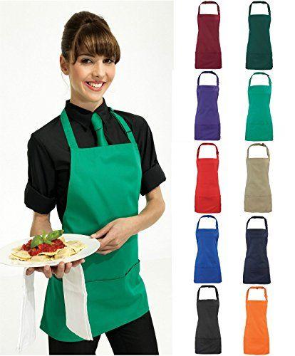 Adults/Unisex SHORT Polycotton 2 in 1 Waist Apron with Bib and Pockets - Cafe/Restaurant/Bar/Pub (Black) Premier Workwear http://www.amazon.co.uk/dp/B00SQW8EHK/ref=cm_sw_r_pi_dp_ebHVwb0S0TT2N