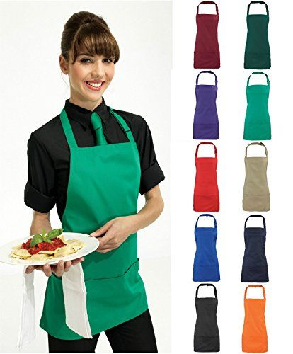 Adults/Unisex SHORT Polycotton 2 in 1 Waist Apron with Bib and Pockets - Cafe/Restaurant/Bar/Pub (Black) Premier Workwear http://www.amazon.co.uk/dp/B00SQW8EHK/ref=cm_sw_r_pi_dp_Df2Vwb1KJ6395