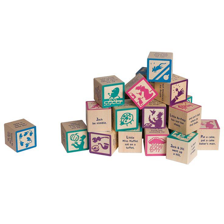 nursery rhyme blocksBlock Sets, Baby'S Kids, Rhymes Block, Nursery Rhymes, Buildings Block, Nurseries Rhymes, Mothers Goose, Goose Rhymes, Baby Gift