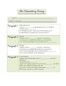 expository essay anchor papers Expository essay lesson meaningful feedback with this peer editing guide, designed for expository essays the as a mid-unit assessment of a series of lessons that use ethan canin's short story the palace thief as an anchor text, writers craft an in-class essay in.