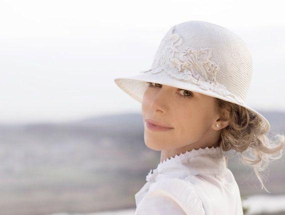 Bridal Off White Hat Chic Vintage Inspired by EllaGajewskaBRIDAL, £99.00
