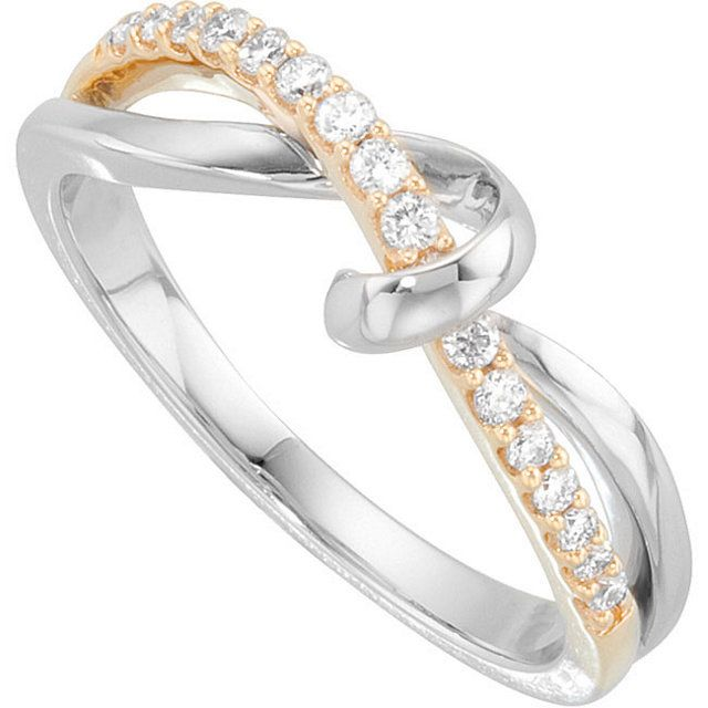 Stuller 14kt White and Yellow Gold Diamond Ring Style: 68757:100:P