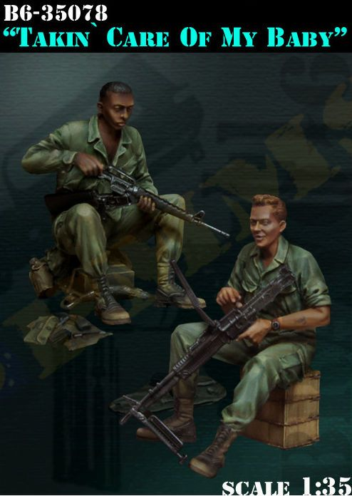resin assembly  Kits 1/ 35 Vietnam War takin care of my baby   Unpainted Kit Resin Model Free Shipping