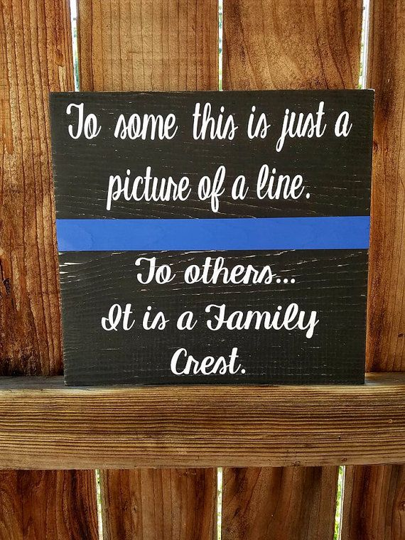 Thin Blue Line Sign Thin Blue Line Police by NelsonsKnottyBits