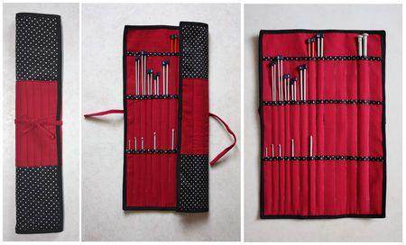 tuto de la pochette pour aiguilles à tricoter