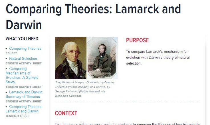 Evolution Charles Darwin Lesson Plans & Worksheets