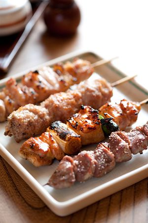Japanese Chicken Yakitori|伊勢廣の焼き鳥 - my favorite Japanese food to make. Super easy and yummy (not sure if this link leads to a recipe or not but I used Cooking With Dog's recipe on Youtube.)