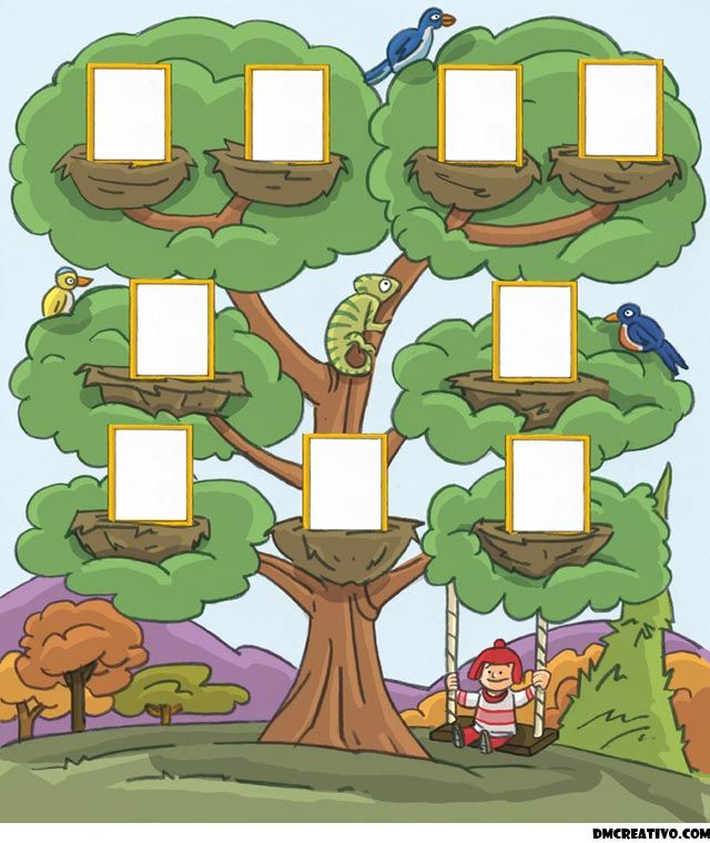arbol genealogico | Dibujo De Un Arbol Genealogico