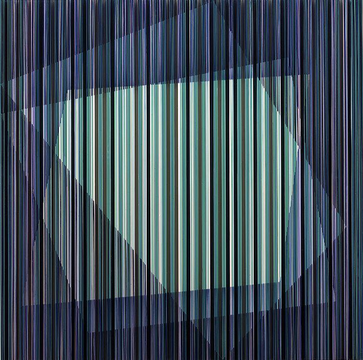 The Open - Rachel Wickremer polycarbonate & acrylic paint,100 x 100 cm