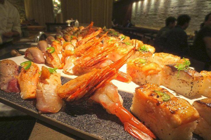 """aburi""  ""delicious"" = ""aburicious"" @JaBistro222 assorted blowtorched sushi #jabistro #bestsushi #toronto #japanese #restaurant #sake #bistro #sashimi #sushi #foodie #foodporn #canada #finedining #chef #fresh #best #tapas #bar #pub #カナダ #刺身 #炙り #aburi by jabistro222"