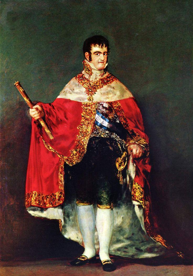 Retrado de Fernando VII obra de Francisco de Goya