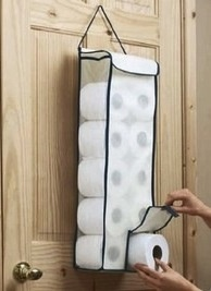 Door Toilet Paper Storage Bag Hanger. Roll Organiser.