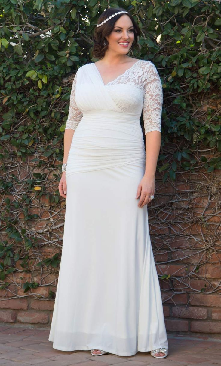 71 best plus size wedding gowns images on pinterest homecoming check out the deal on elegant aisle wedding gown at kiyonna clothing ombrellifo Image collections