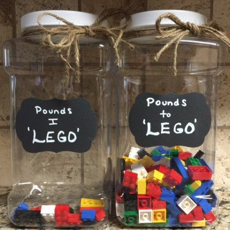 Creative and visual way to track your weight loss / www.holdmycupcake.com / #weight loss #LEGO jar # measurements #extreme weight loss #tracking progress #energy #diet #ways to track weight loss #plus size exercise #weight loss journey #self-love #body positive #clothing fit