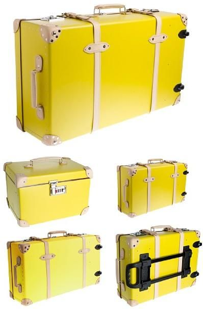 J-Crew Globe-Trotter Centenary Collection is a stand-out luxury luggage line that will stand out at any airport.