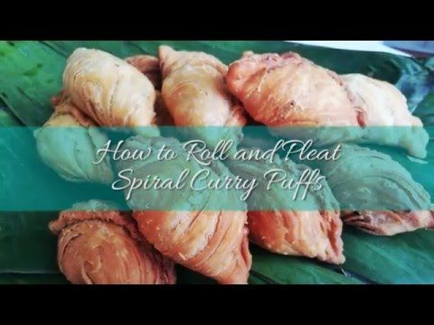 How to Roll and Pleat Spiral Curry Puffs