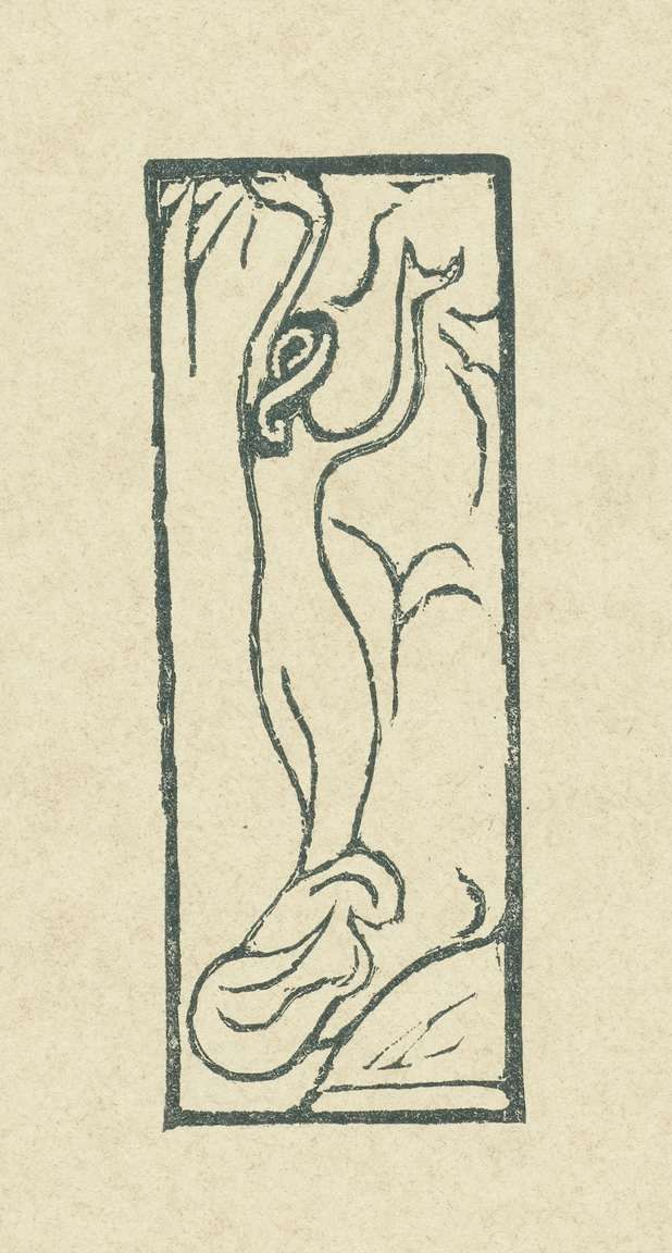 Maurice Denis | Illustratie met naakte vrouw bij gedicht in dichtbundel Sagesse van Paul Verlaine, Maurice Denis, L'Epreuve, P. Lemaire, 1895 |
