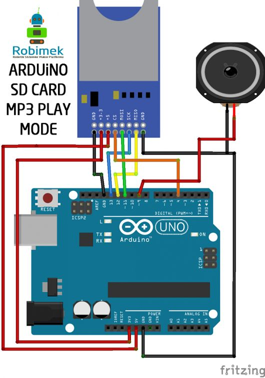 MP3 audio file playback from SD Card with Arduino